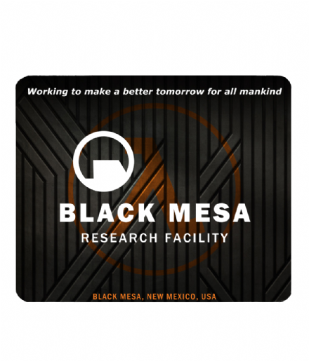 Black Mesa Research Facility Half Life Inspired PC Laptop Gamer Mouse Mat